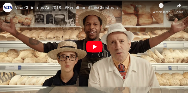 Keep it local Christmas advert from Visa image